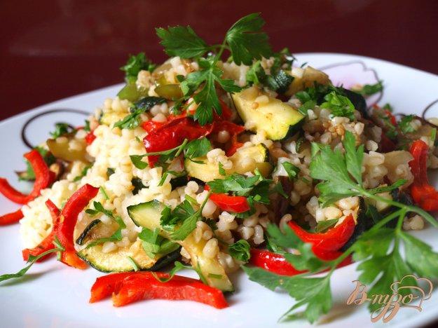 Рецепт Овощи-гриль с булгуром