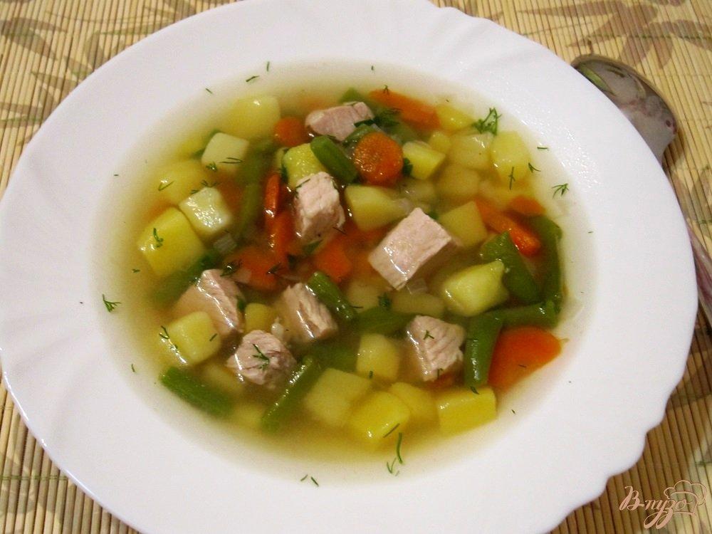 Фото приготовление рецепта: Мясной суп с овощами шаг №12
