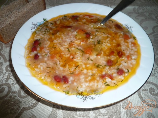 Рецепт Суп томатный с рисом и фасолью