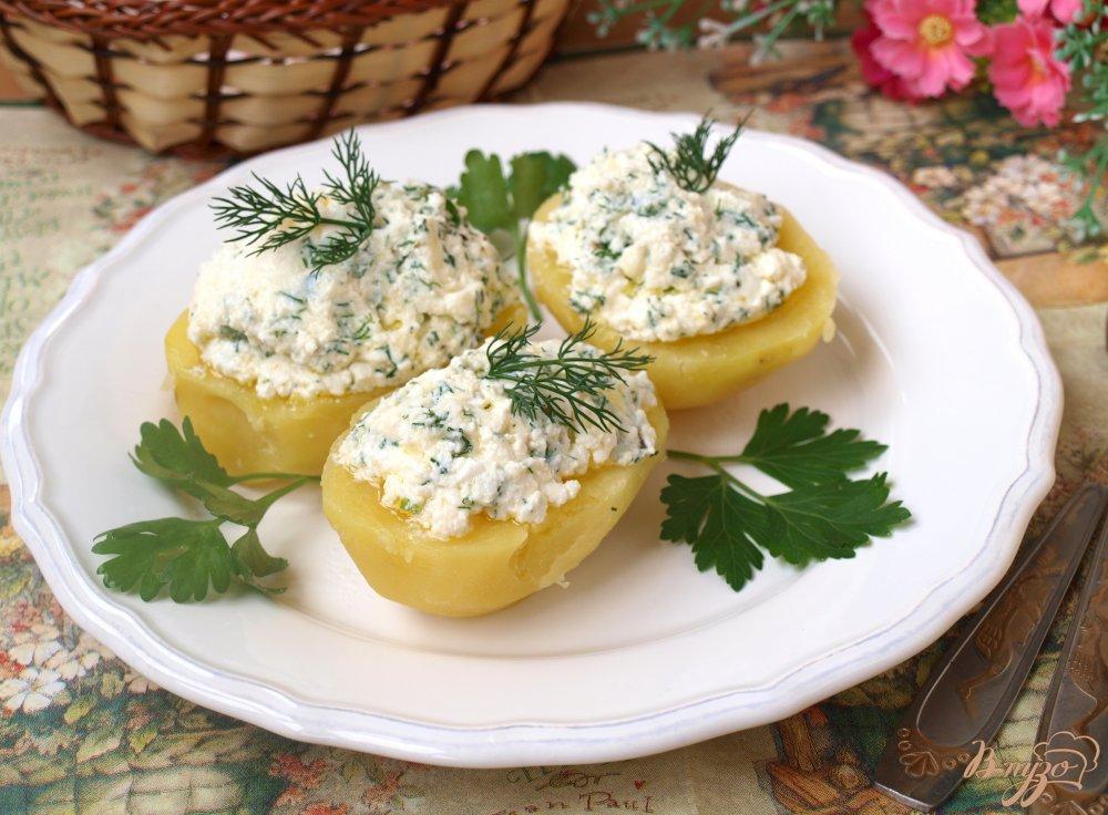 Фото приготовление рецепта: Картофель с творогом шаг №5