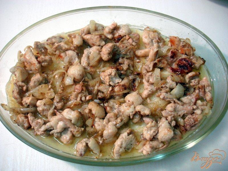 Фото приготовление рецепта: Картофельная запеканка с мясом шаг №5
