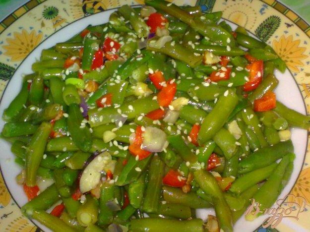 Рецепт Спаржевая фасоль с кунжутом