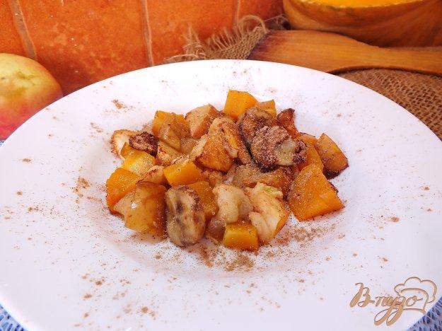 Рецепт Банан запеченный с тыквой и яблоками