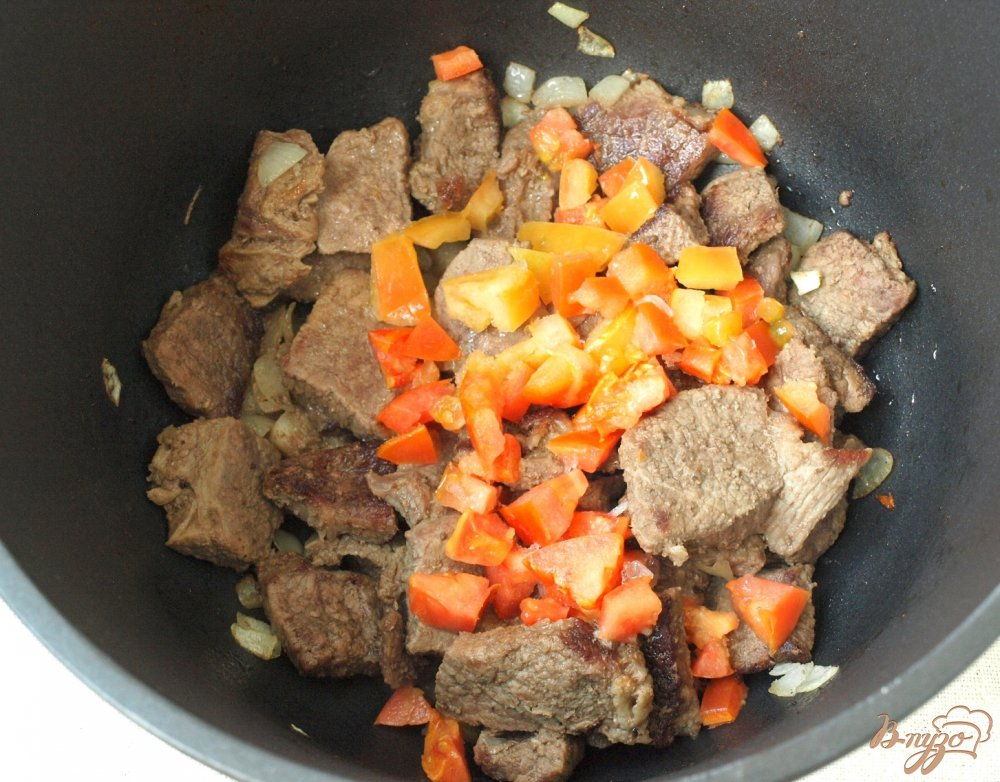 Фото приготовление рецепта: Говядина в кисло-сладком соусе шаг №2