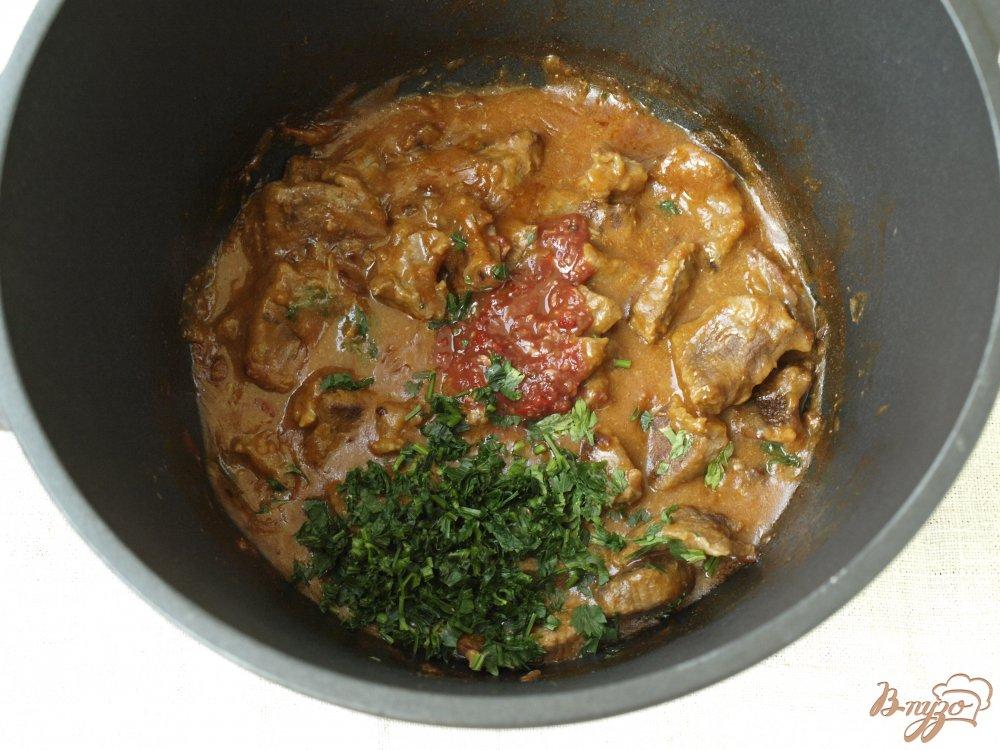 Фото приготовление рецепта: Говядина в кисло-сладком соусе шаг №5