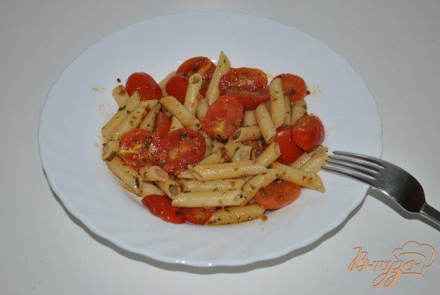 фото рецепта: Пикантные макароны с чери