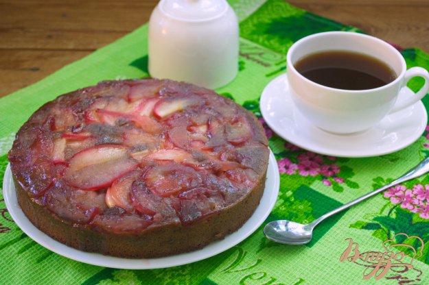 Рецепт Шоколадный манник с яблоком и карамелью