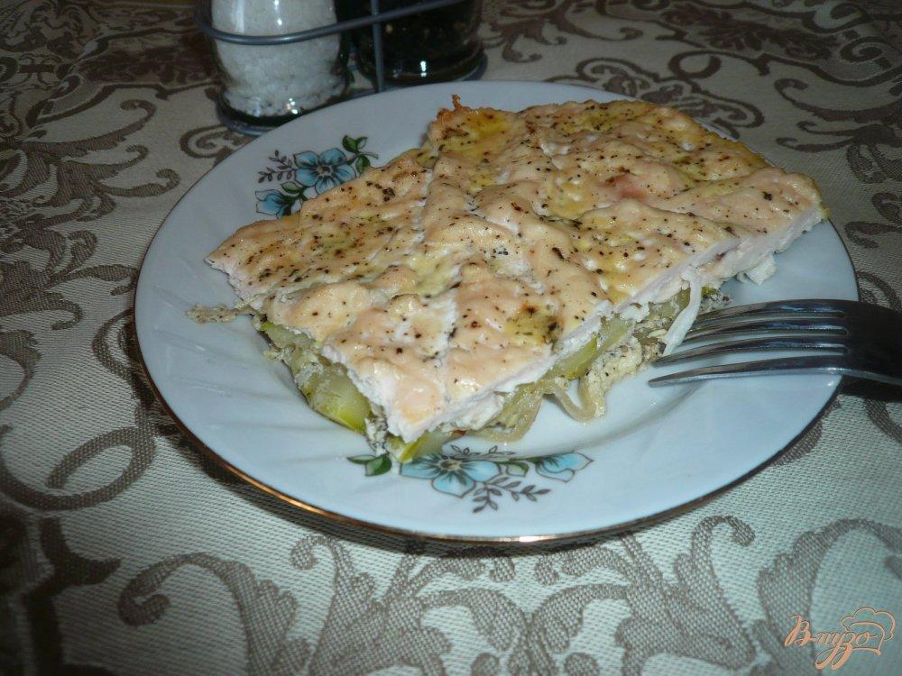 Фото приготовление рецепта: Куриное филе с кабачком шаг №8