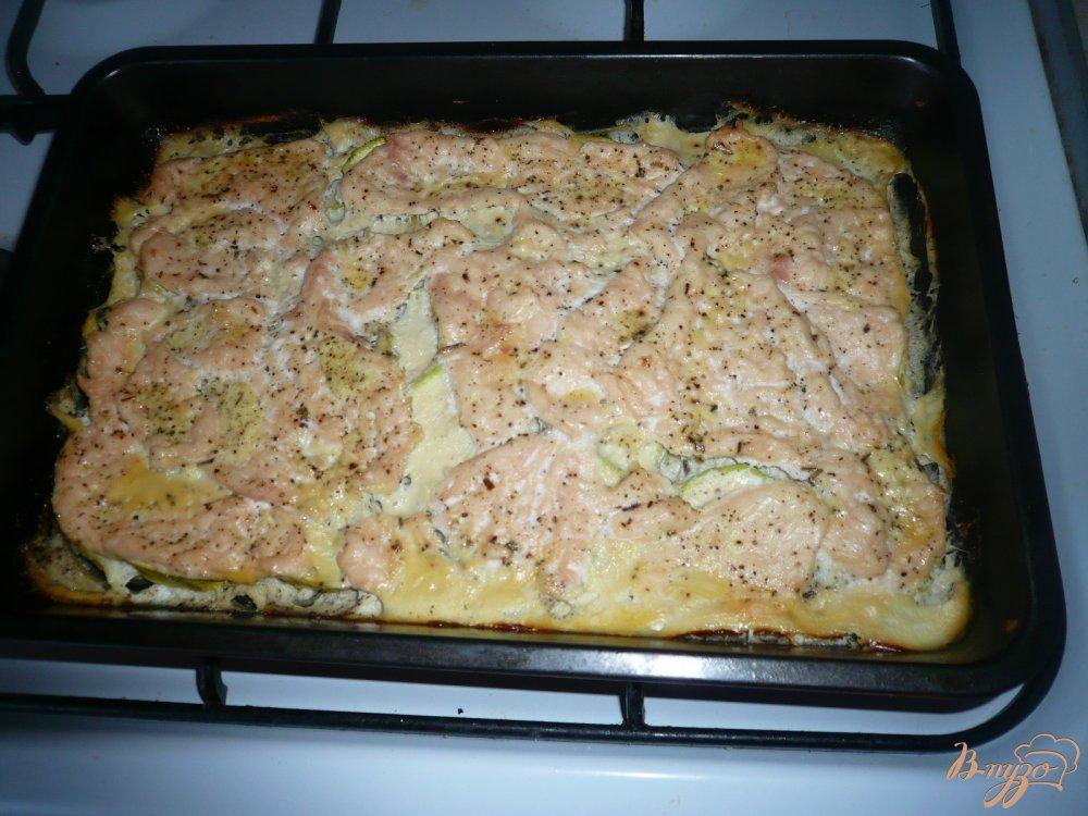 Фото приготовление рецепта: Куриное филе с кабачком шаг №7