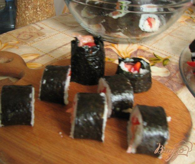 Рецепт Роллы с семгой и овощами