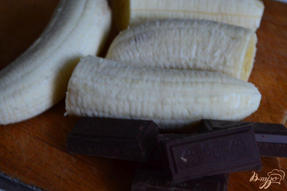 Фото приготовление рецепта: Бананы с шоколадом в тесте брик шаг №1