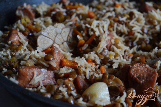 Рецепт Плов с куриным мясом и чечевицей