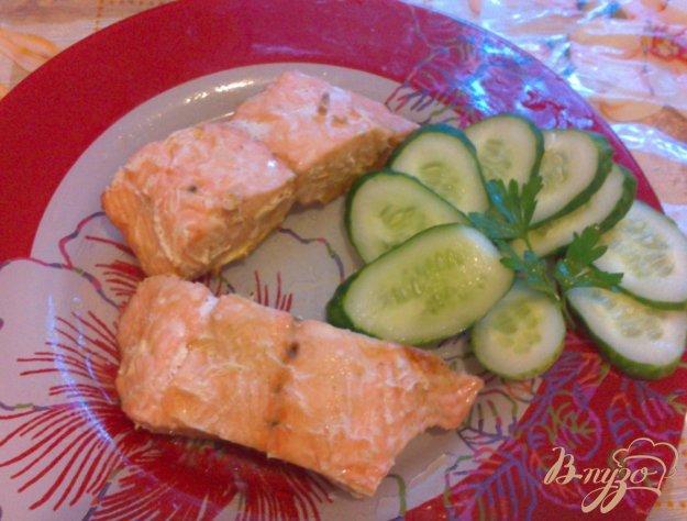 фото рецепта: Запеченное филе лосося, с лимоном