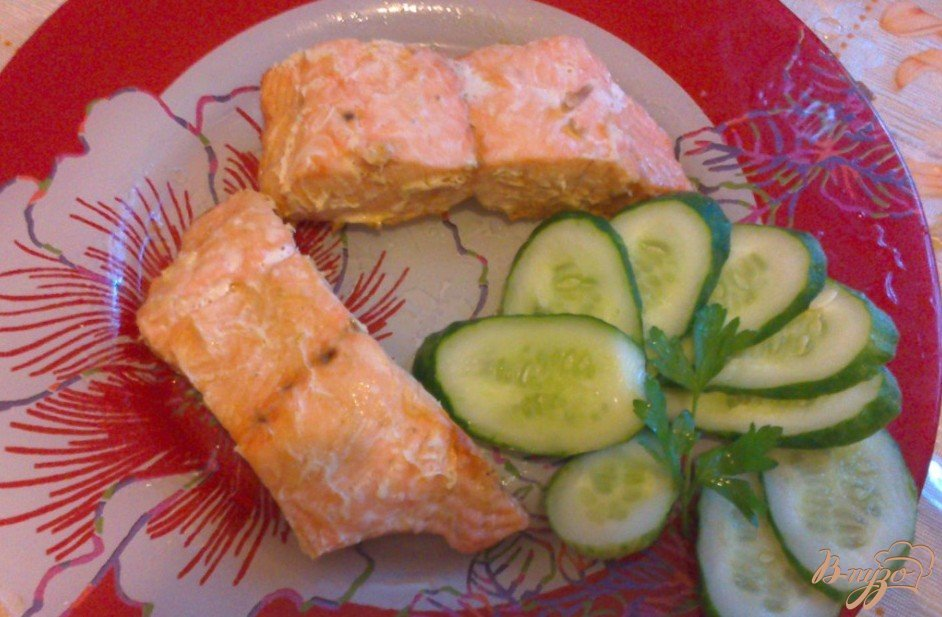 Фото приготовление рецепта: Запеченное филе лосося, с лимоном шаг №5