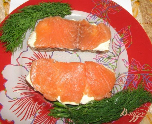 Рецепт Бутерброды с малосольной красной рыбой по-домашнему