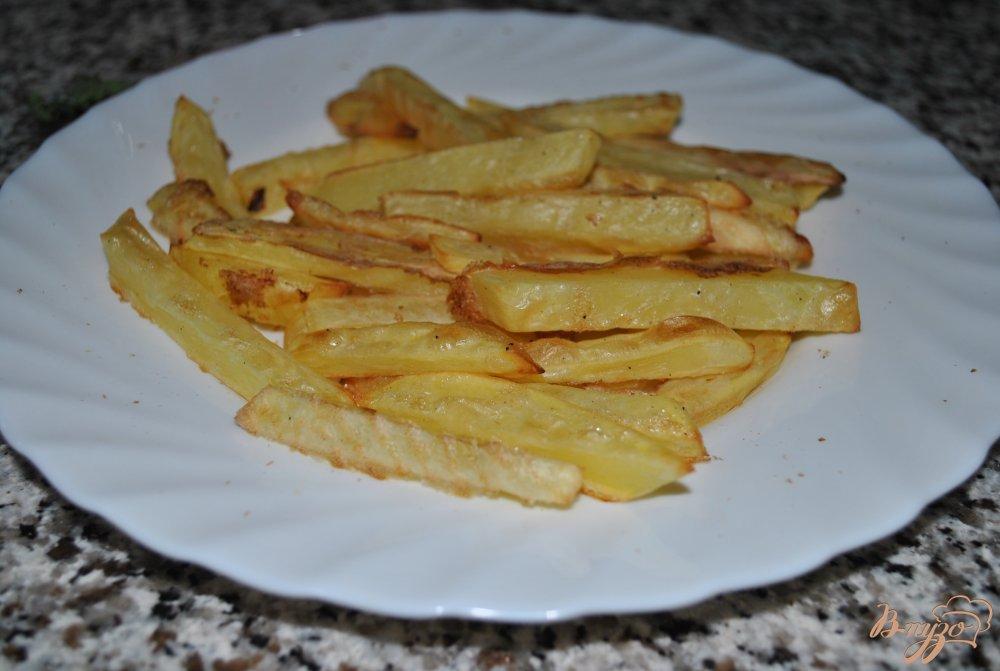 Фото приготовление рецепта: Самый хрустящий картофель-фри шаг №6