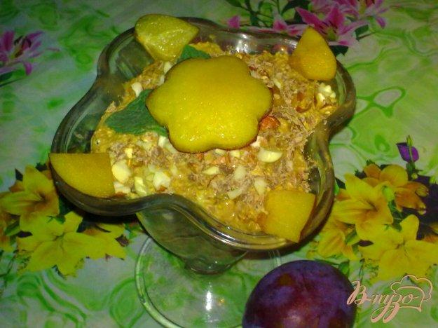 Рецепт Десерт творожный со сливами