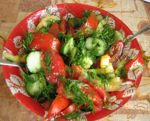 Рецепт Витаминный летний салат