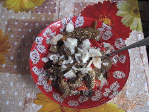 Рецепт Салат из печеных баклажанов и перца