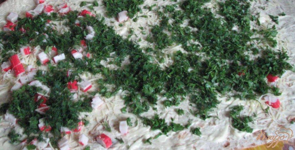 Фото приготовление рецепта: Рулет из лаваша и крабовых палочек шаг №7