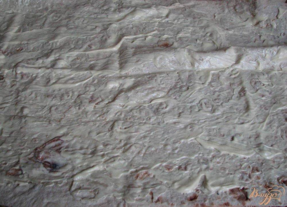 Фото приготовление рецепта: Рулет из лаваша и крабовых палочек шаг №5
