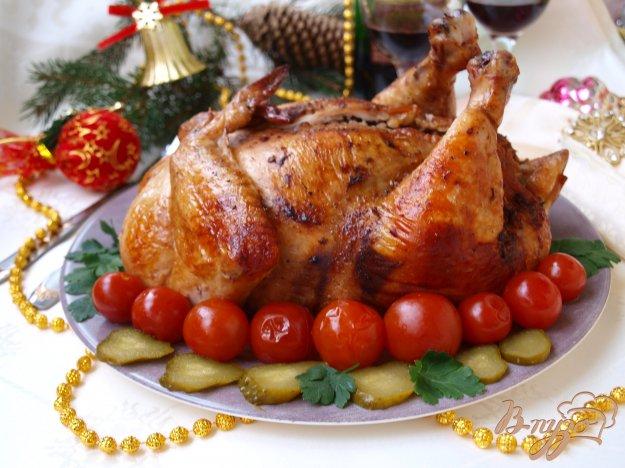 Рецепт Курица фаршированная гречкой с грибами и луком