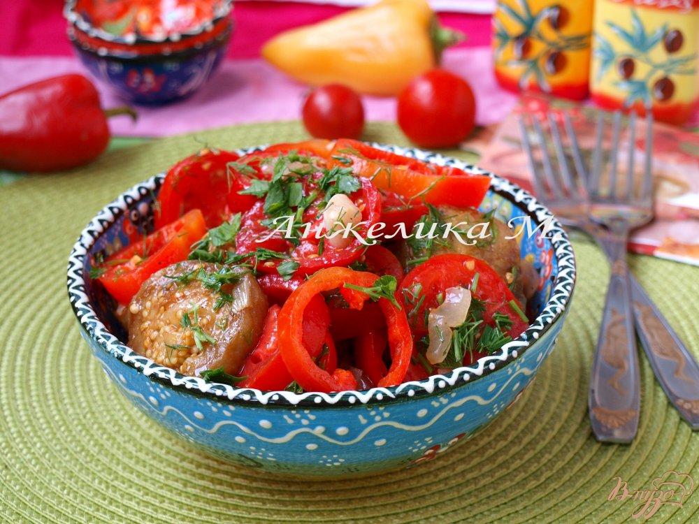Фото приготовление рецепта: Армянский салат с баклажанами шаг №5