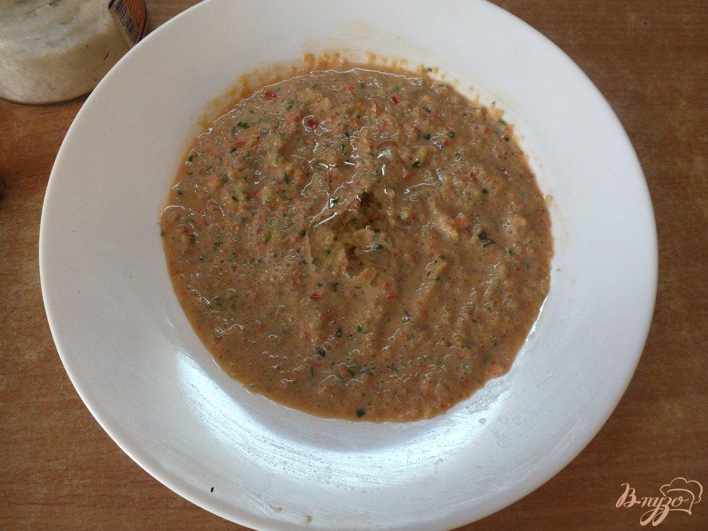 Фото приготовление рецепта: Холодный суп-пюре из болгарского перца и огурца шаг №8