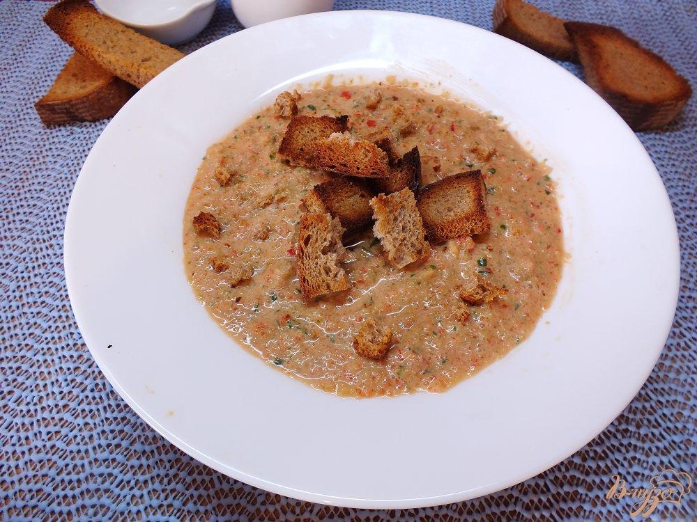 Фото приготовление рецепта: Холодный суп-пюре из болгарского перца и огурца шаг №9