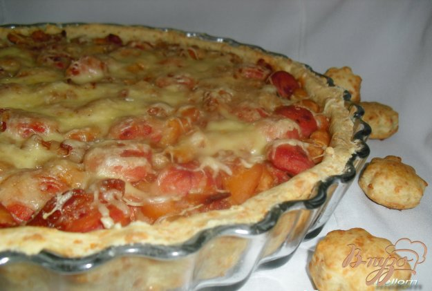 фото рецепта: Сырный тарт с фасолью и беконом