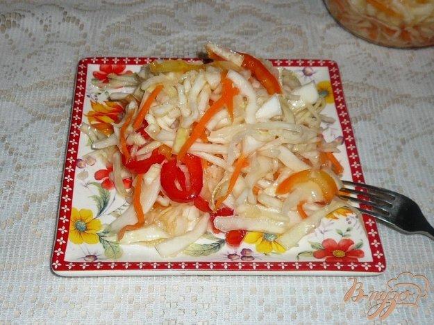 Рецепт Маринованный салат из капусты с перцем и морковью