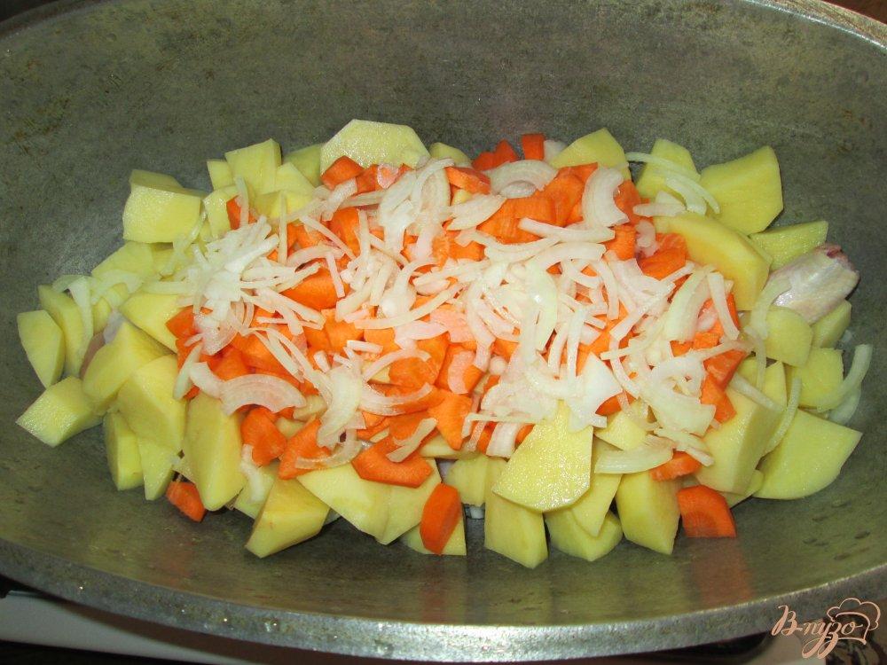 Фото приготовление рецепта: Картошка по-деревенски шаг №3