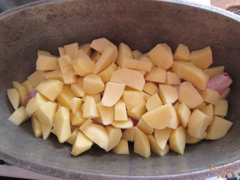 Фото приготовление рецепта: Картошка по-деревенски шаг №2