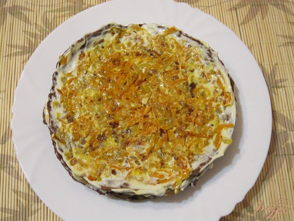 Фото приготовление рецепта: Торт из печенки шаг №9