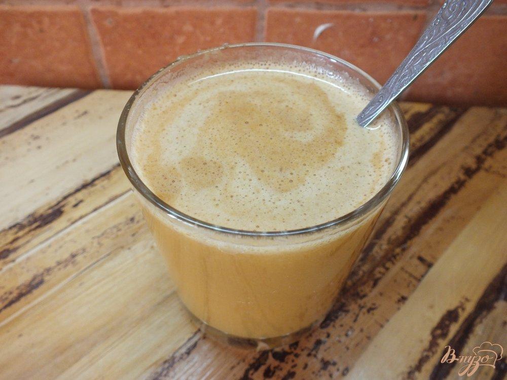 Фото приготовление рецепта: Тыквено-яблочный фрэш с корицей шаг №5
