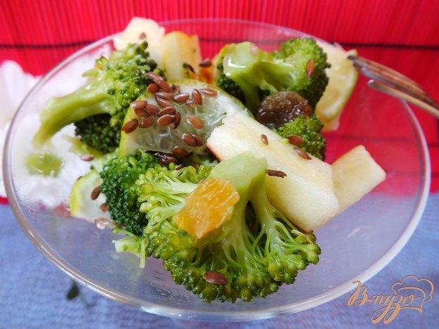 Рецепт Салат из брокколи с яблоком и лаймом