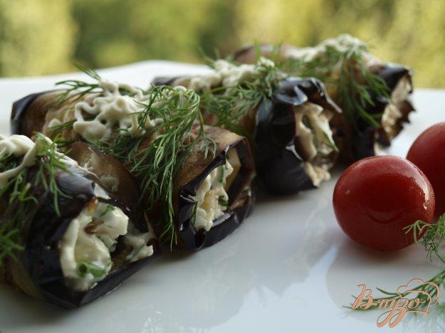 Рецепт Рулетики из баклажанов с брынзой и грецкими орехами