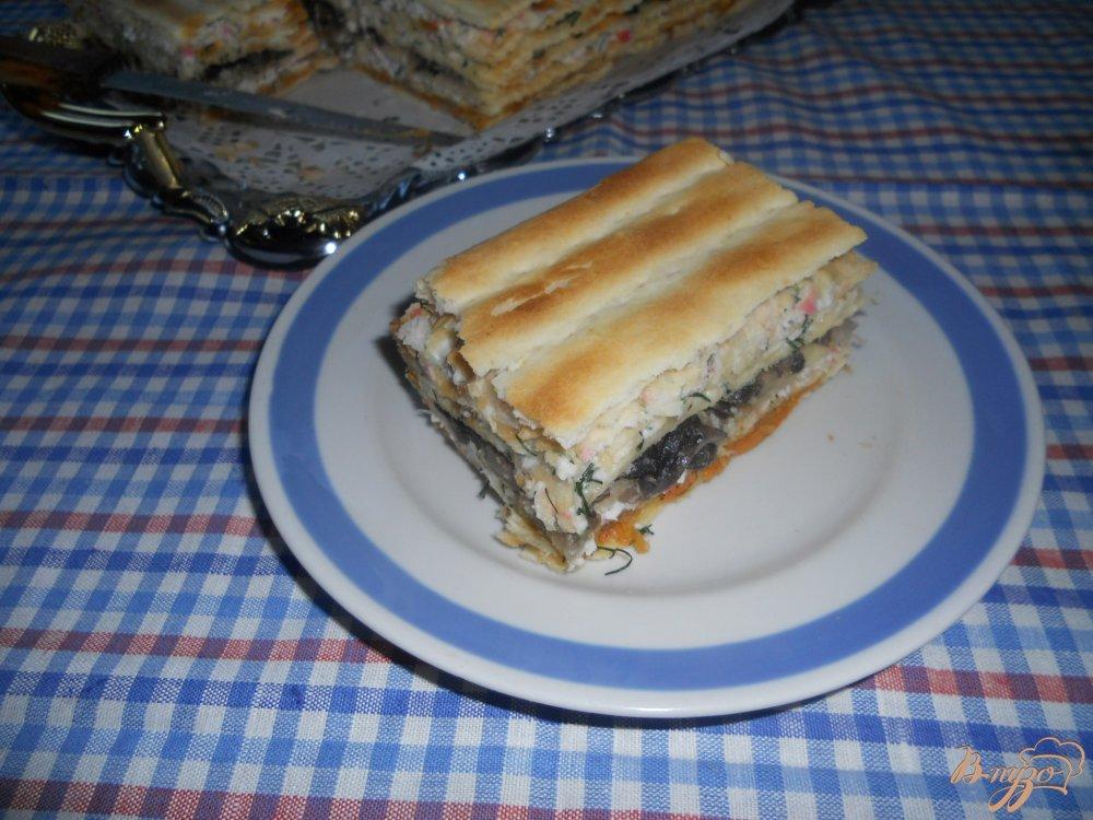 Фото приготовление рецепта: Наполеон закусочный шаг №10