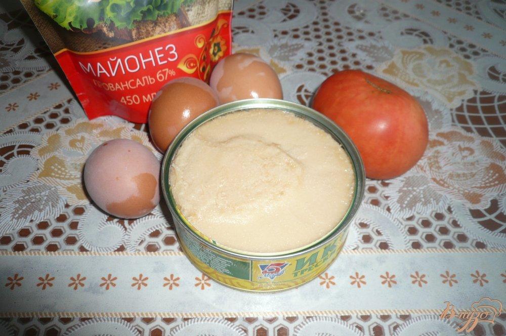 Фото приготовление рецепта: Салат из икры трески шаг №1