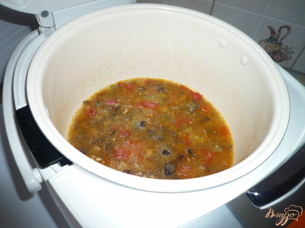 Фото приготовление рецепта: Перловая каша с баклажанами шаг №5