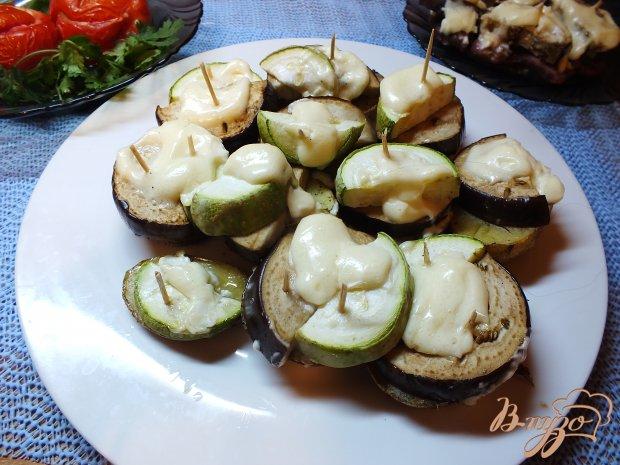 Картофель запеченный с овощами по майонезом