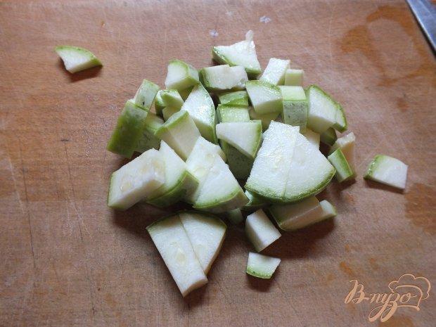 Помидор запеченный с кабачком и сыром
