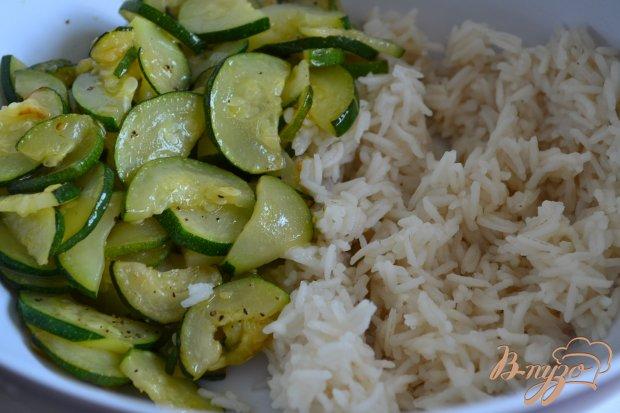 Рисовый салат с овощами и сыром