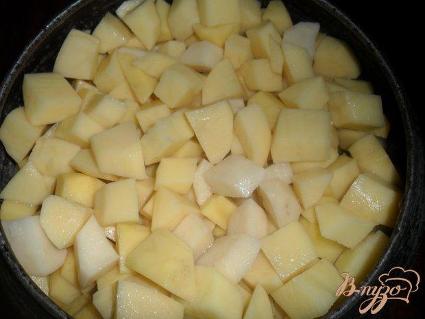 Тушёный картофель с мясом в чугунке по деревенски