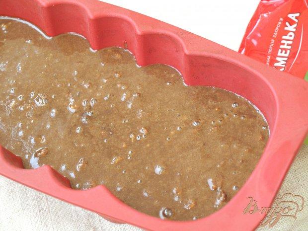Постный шоколадный манник с изюмом и орехами