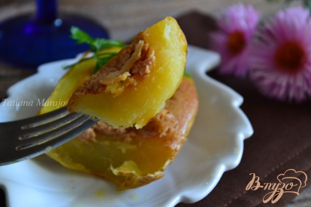 Картофель с гусиным паштетом