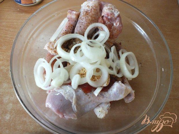 Шашлык из вымоченных куриных голеней