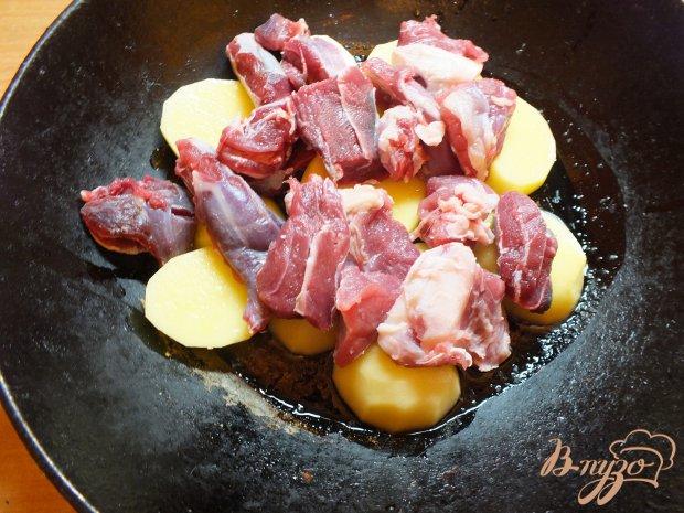 Картофель с говядиной в духовке