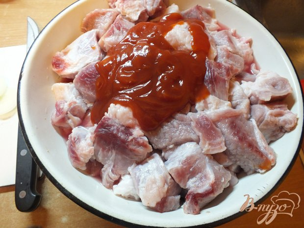 Шашлык свиной в горчичном маринаде