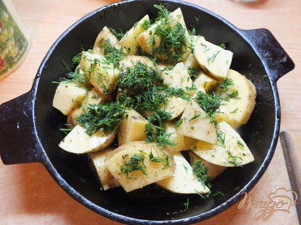 Картофель запеченный в специях и травах